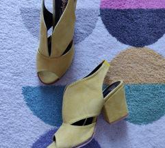 Sandale žute, oker