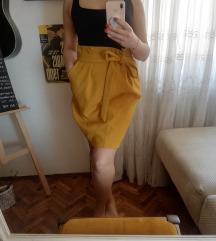 Caroll Paris nova suknja, senf boja AKCIJA