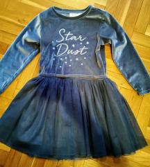 Plisana haljina za devojcice, 104 cm