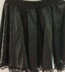 Crna suknja od eko koze