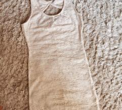 Čipkasta bež haljina