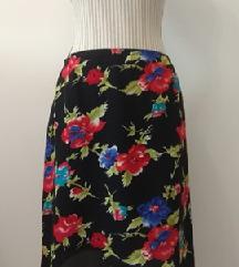 Cvetna, crna, letnja, lagana suknja