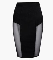 Sexy kozna suknja visoki struk