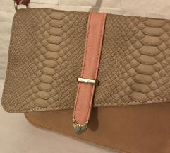 Roze-krem torbica
