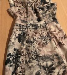 AKCIJA!! PREDIVNA Cvetna poslovna haljina