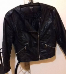 BERSHKA jakna, eko koža ( M)