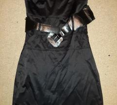 Elegantna vecernja crna uska haljina