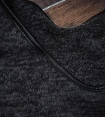 Tunik-haljina sa kožnim detaljima