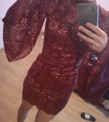 Haljina sa sirokim rukavima i cipkom