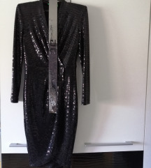 Crna svecana haljina S