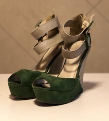 SISLEY sandale na platformu