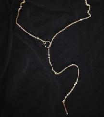 Dugacka zlatna ogrlica (bizuterija)
