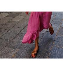 Kožne prelepe braon sandale velicina 39