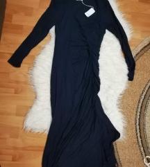 Teget midi haljina