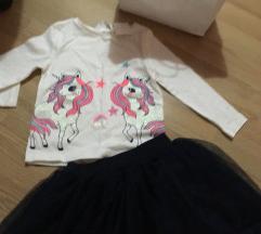 H&M bluzica i suknjica