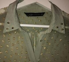 Zara Providna Bluza za zlatnim detaljima