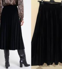 NOVO velvet plisirana suknja
