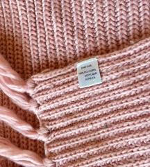 H&M dugacki roze sal, izuzetno debeo i mekan