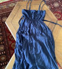 Teget duga haljina na bretele