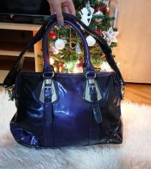 Ljubičasta lakovana torba - nova