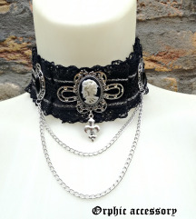 Gothic Cameo choker sa medaljonima
