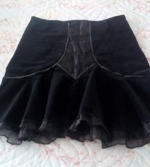 Crna suknja od somota