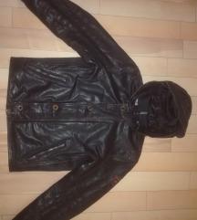 STRELLSON vrhunska kozna jakna sa kapuljacom