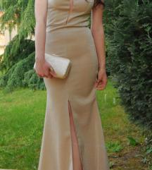 Krem duga svecana haljina