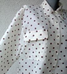 košulja svilena bež braon tufne br 44 ili 46