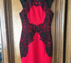 crvena haljina sa čipkom