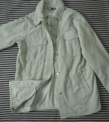 Svetlomint somotska HM jakna, vel. XS