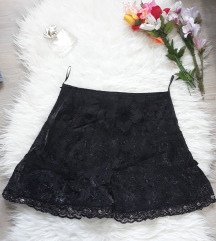 Nova crna Gotic cipkana suknja
