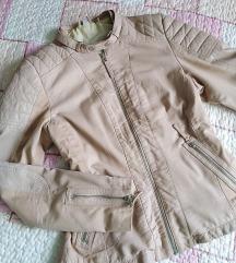 Puder roza kožna jakna