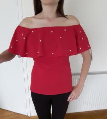 Crvena majica sa karnerom NOVO - SNIŽEN0