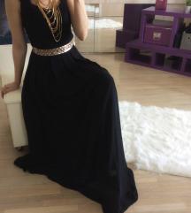 Soky&Soka crna maxi haljina-novo
