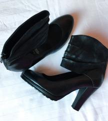 % PLACENE 7000 - NOVE crne cipele od prave koze