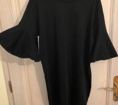 ZARA crna siroka haljina