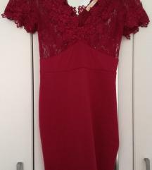 NOVA prelepa bordo haljina