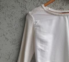 H&M bela bluza / dzemper