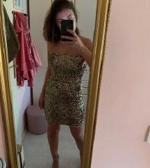 ZARA zlatka mini haljina sa sljokicama