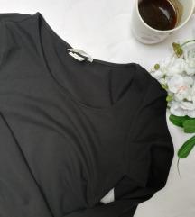 HM crna uska haljina dugih rukava S/M