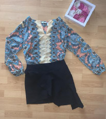 Zara crna mini suknjica asimetricnog kroja