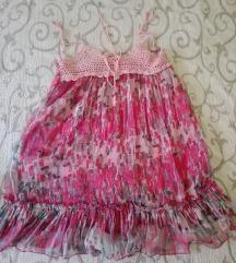 Pink sarena haljina