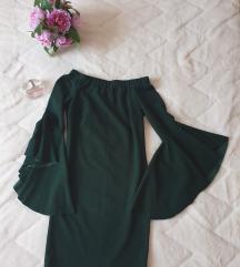 💚Zelena haljina sa širokim rukavima