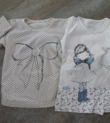 Dve majice dug rukav za devojcice