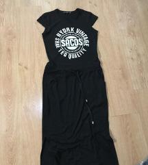 Crna haljina sa natpisom