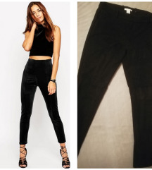 H&M duboke VELUR uske pantalone
