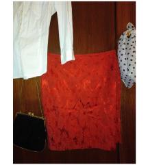 K. T. Klaus Thierschmidt crvena kratka suknja