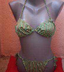 Zeleni vintage bikini sa srcima