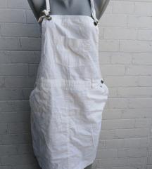 Bela suknja sa tregerima univerzalna